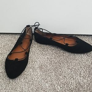 Lucky Brand Aviee Black Flats